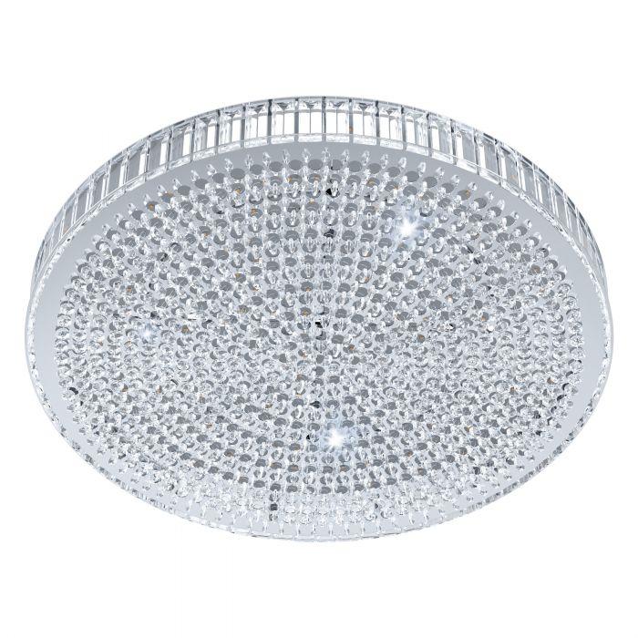 Laevalgusti BALPARDA LED 43,5W 4780lm hämardatav; metall, kroom / kristall