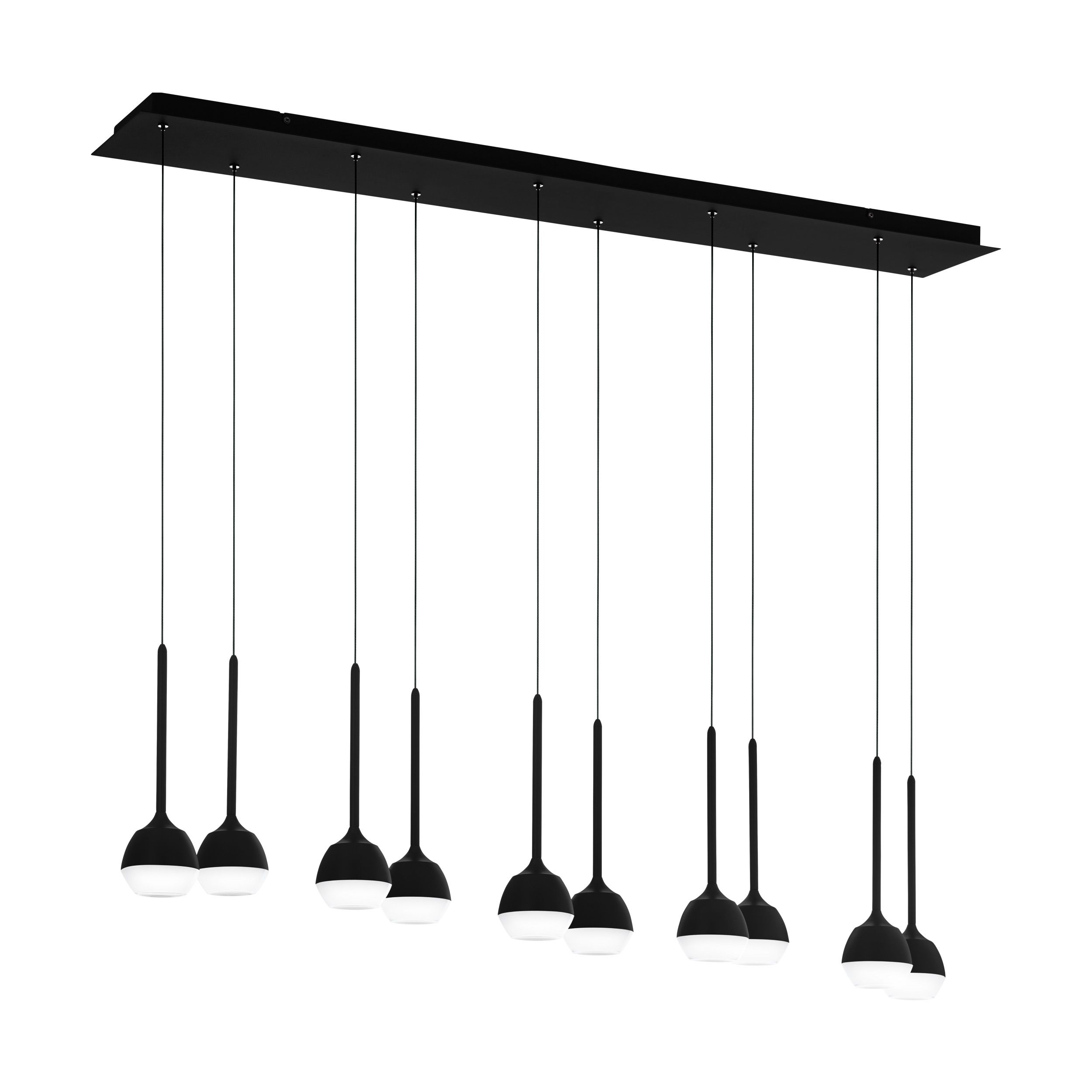 Rippvalgusti NUCETTO LED 10x4,5W 10x230lm metall, must