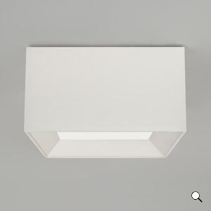 Bevel Square 400x400 kuppel, valge tekstiil