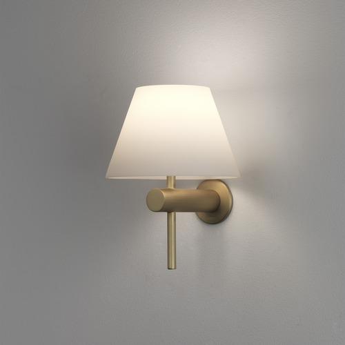Roma Max 40W G9 IP44 vannitoavalgusti, hämardatav, matt kuld, klaasist hajuti