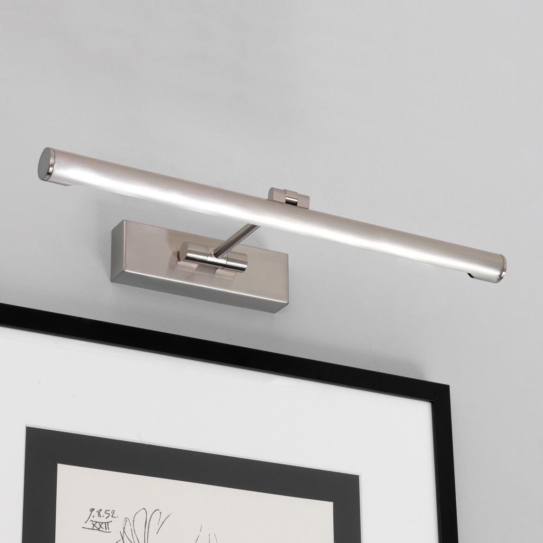 Goya 460 LED 7,5W 821lm 2700K IP20 pildivalgusti, harjatud nikkel