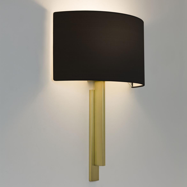 Tate Max 60W E27 IP20 seinavalgusti, hämardatav, matt kuld, ilma varjuta (tellida eraldi), mõõdud koos varjuga