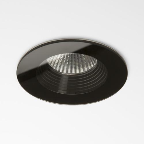 Vetro Round LED 6W 594lm 2700K 18° IP65 tulekindel süvisvalgusti, hämardatav, must, liiteseadmeta