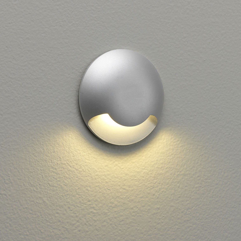 Beam One LED 2,2W 7lm 3000K IP67 süvistatav seinavalgusti, hämardatav, matt hõbe, liiteseadmeta
