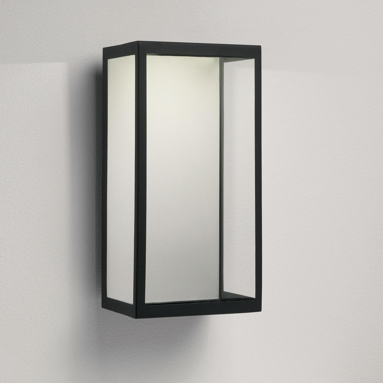 Puzzle LED 4,2W 185lm 3000K IP44 seinavalgusti, must, klaasist hajuti