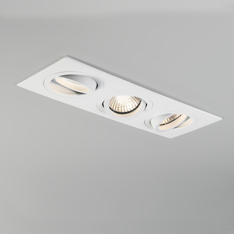 Taro Square Triple Adjustable 3x Max 50W GU10 IP20 süvisvalgusti, hämardatav, matt valge