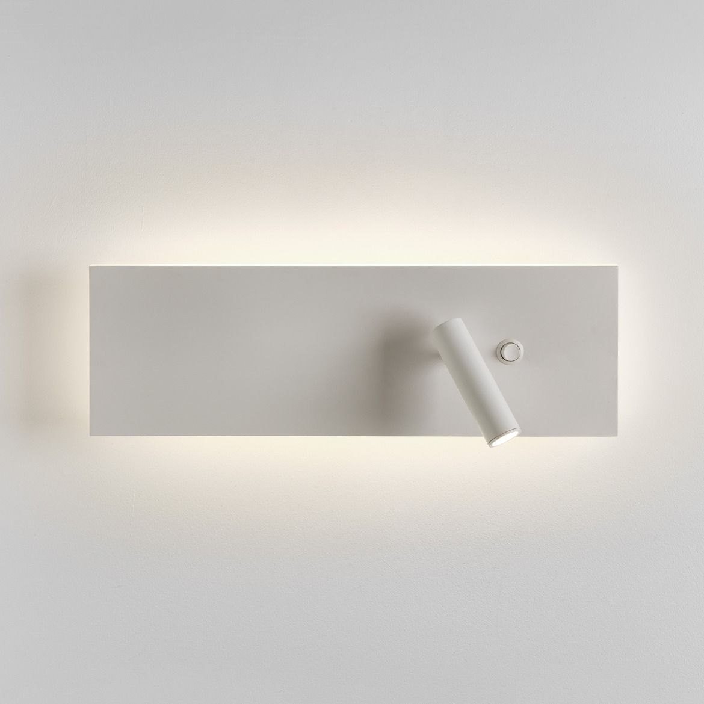 Edge Reader Single Switch LED 15,3W 486lm 2700K + 3,9W 142lm 2700K CRI90 IP20 seinavalgusti, lülitiga, matt valge