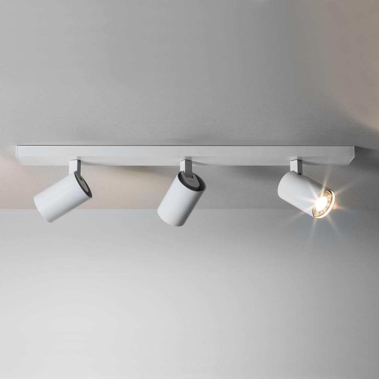 Ascoli Triple Bar 3x Max 50W GU10 IP20 kohtvalgusti, hämardatav, valge