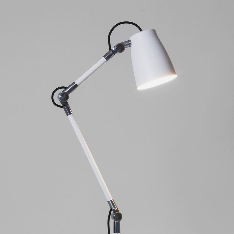 ATELIER 1x28W E27 valgusti lülitiga juhtmega, valge. Vajalik lisaks klamber, laua- või põrandaalus