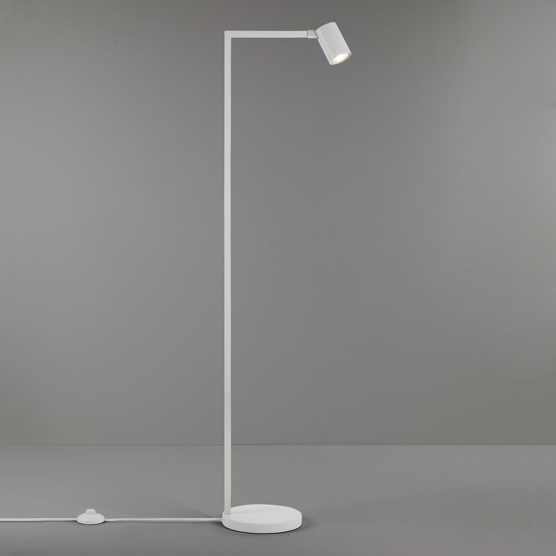 Ascoli Floor Max 6W GU10 LED IP20 põrandavalgusti, lülitiga, matt valge