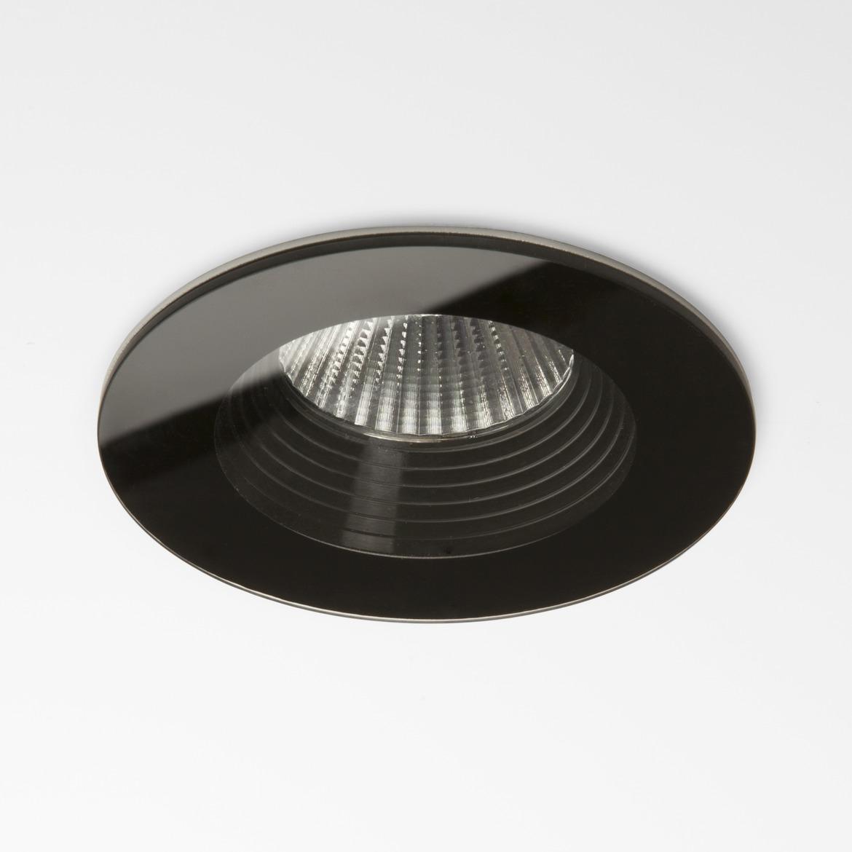 Vetro Round LED 6W 629lm 3000K 18° IP65 süvisvalgusti, hämardatav, must, liiteseadmeta