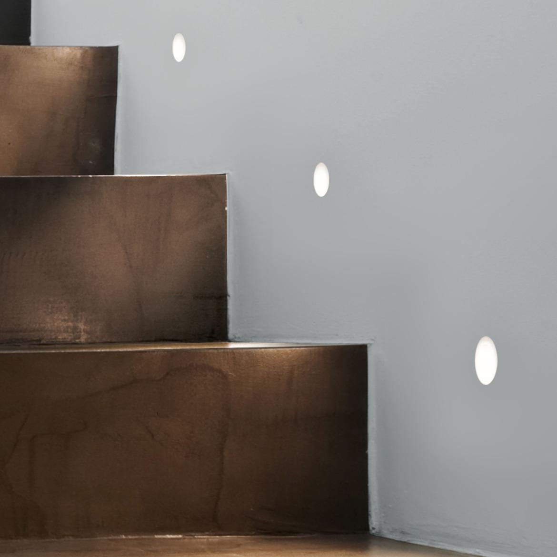 Leros Trimless LED 1W 36lm 2700K IP20 seina süvistatav valgusti, hämardatav, matt valge, liiteseadmeta