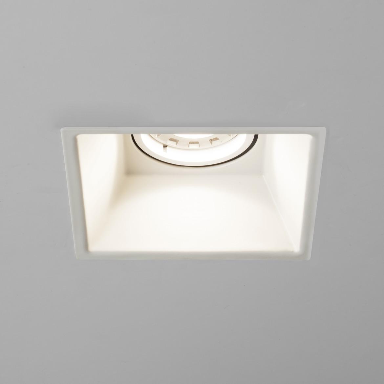 Minima Square Fixed Max 6W GU10 LED IP20 tulekindel süvisvalgusti, hämardatav, matt valge