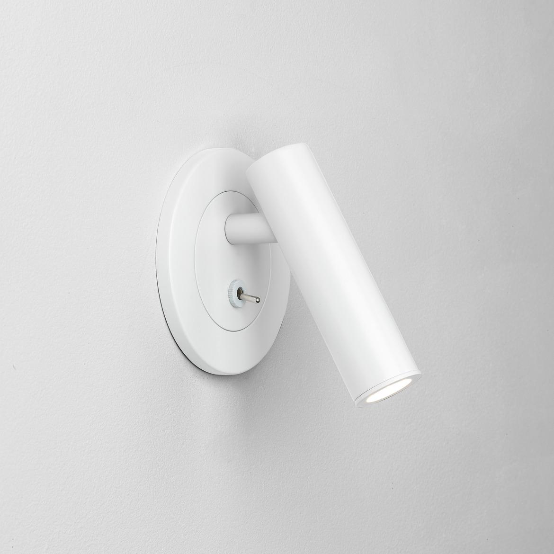 Enna Recess Switched LED 3,9W 151lm 2700K CRI90 IP20 süvistatav seinavalgusti, lülitiga, matt valge