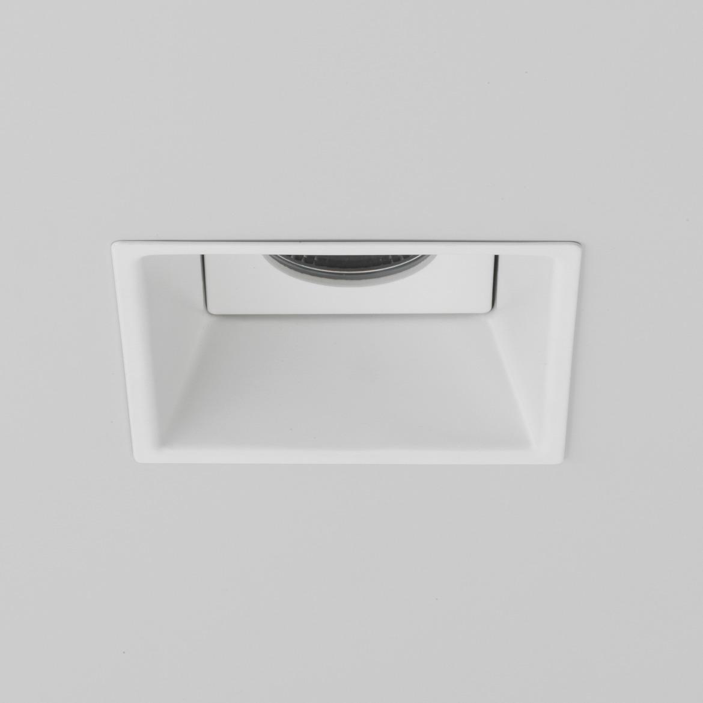 Minima Square Fixed LED 6,1W 678lm 2700K CRI90 45° IP65 süvisvalgusti, hämardatav, matt valge