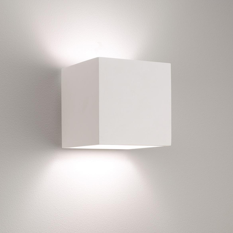 Pienza 165 Max 12W E27 LED IP20 seinavalgusti, hämardatav, kips