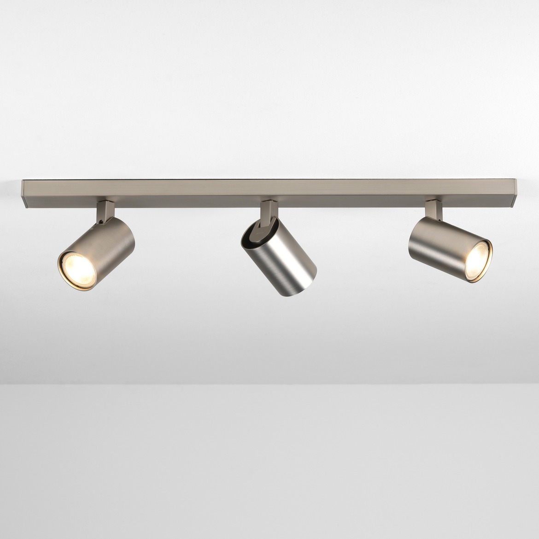 Ascoli Triple Bar 3x Max 50W GU10 IP20 kohtvalgusti, hämardatav, matt nikkel