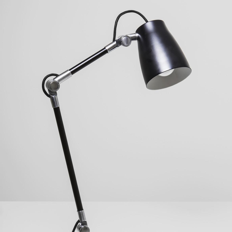 Atelier Max 12W E27 LED IP20 laua/põrandavalgusti, lülitiga, matt must, ilma jalata (tellida eraldi)