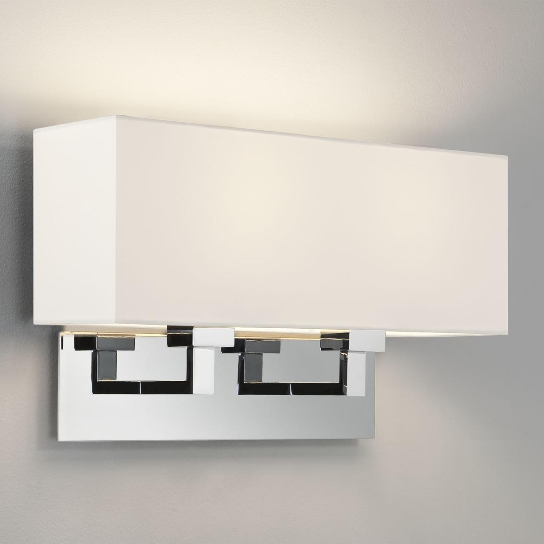 Park Lane Twin 2x Max 60W E27 IP20 seinavalgusti, hämardatav, poleeritud kroom, ilma varjuta (tellida eraldi), mõõdud ilma varjuta