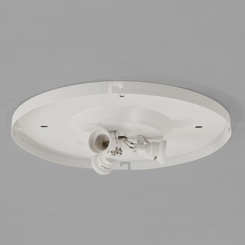 Bevel Round valgusti põhi 3-Way Plate 3x Max 60W E27 IP20, hämardatav, valge, mõõdud ilma varjuta
