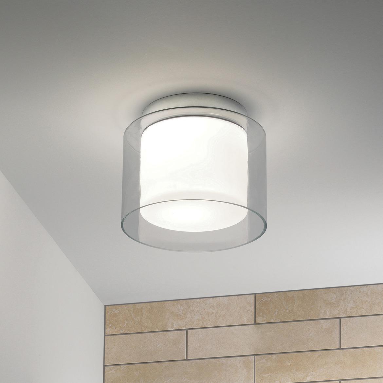 Arezzo Ceiling Max 12W E27 LED IP44 laevalgusti, hämardatav, poleeritud kroom, klaasist hajuti