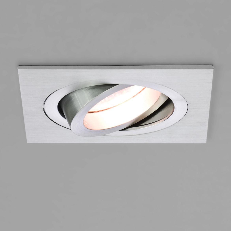 Taro Square Adjustable Max 50W GU10 IP20 süvisvalgusti, hämardatav, harjatud alumiinium