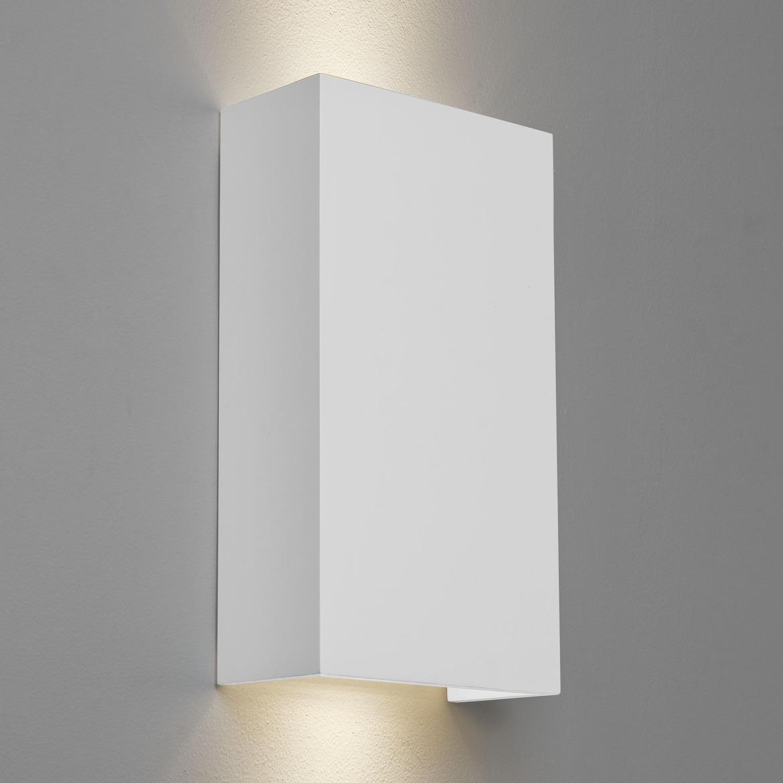 Pella 190 2x Max 6W GU10 LED IP20 seinavalgusti, hämardatav, kips