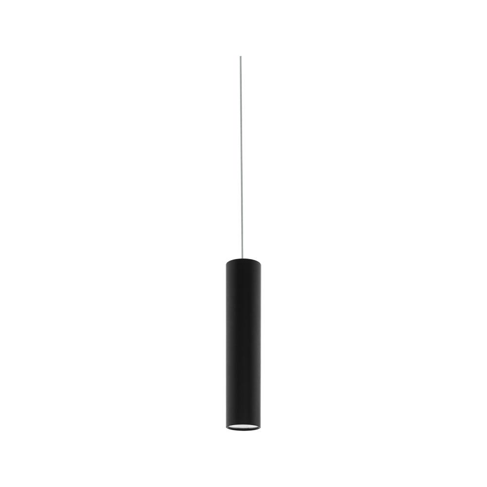 Rippvalgusti TORTORETO, max 6,5W GU10, metall – must, silindri h=400 mm