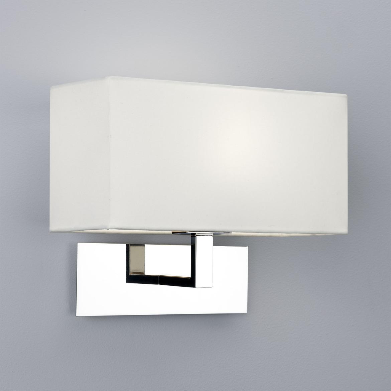 Park Lane Max 60W E14 IP20 seinavalgusti, hämardatav, poleeritud kroom, valge vari