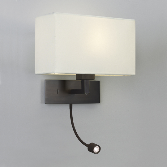 Park Lane Led 1x60W+1x1W LED 230V, seinavalgusti, pronks varjuta