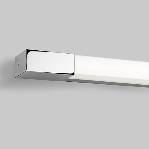 Romano 600 1x24W T5 HO, lülitita, niiskuskindel seinavalgusti, IP44, poleeritud kroom/polükarbonaat hajutiga, valgusallikas ei ole komplektis