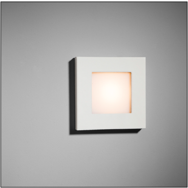 Doze kandiline must LED4,3W soevalge, süvisvalgusti seina