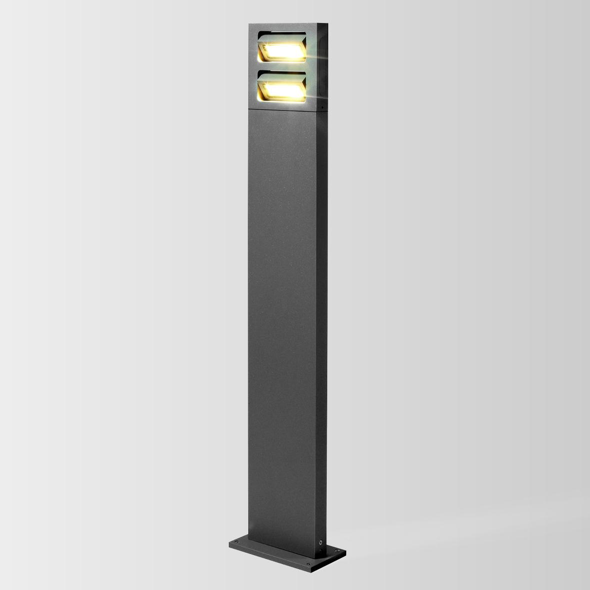 SWAY 2.0 LED 3000K DIM tumehall 2x 8W 80 220-240VAC ilma postita, välisvalgusti pollar