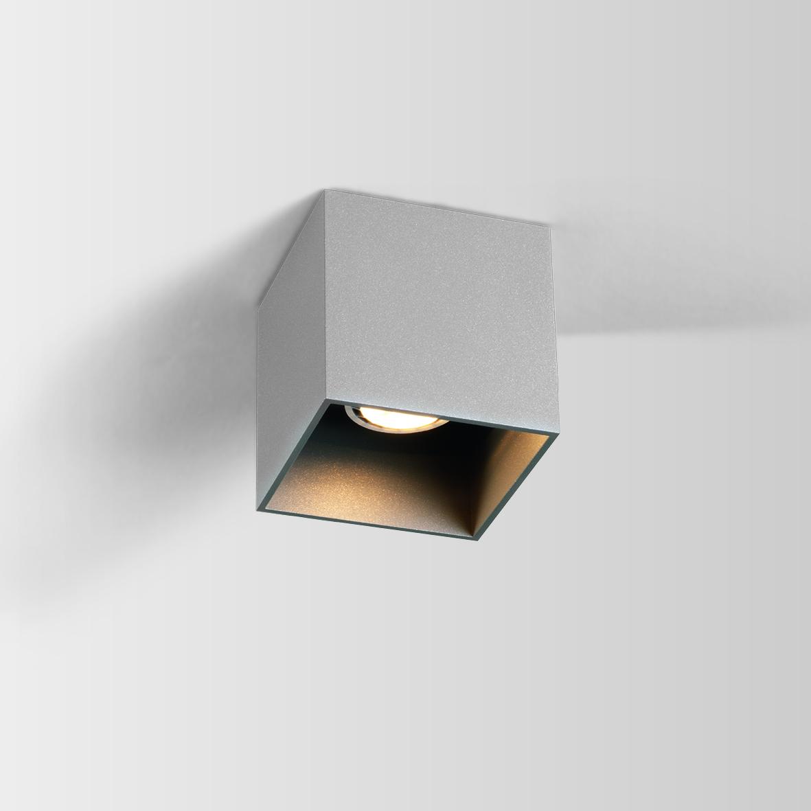 Box Ceiling 1.0 LED 8W 3000K dim 80CRI 220-240V, Alumiiniumvärv