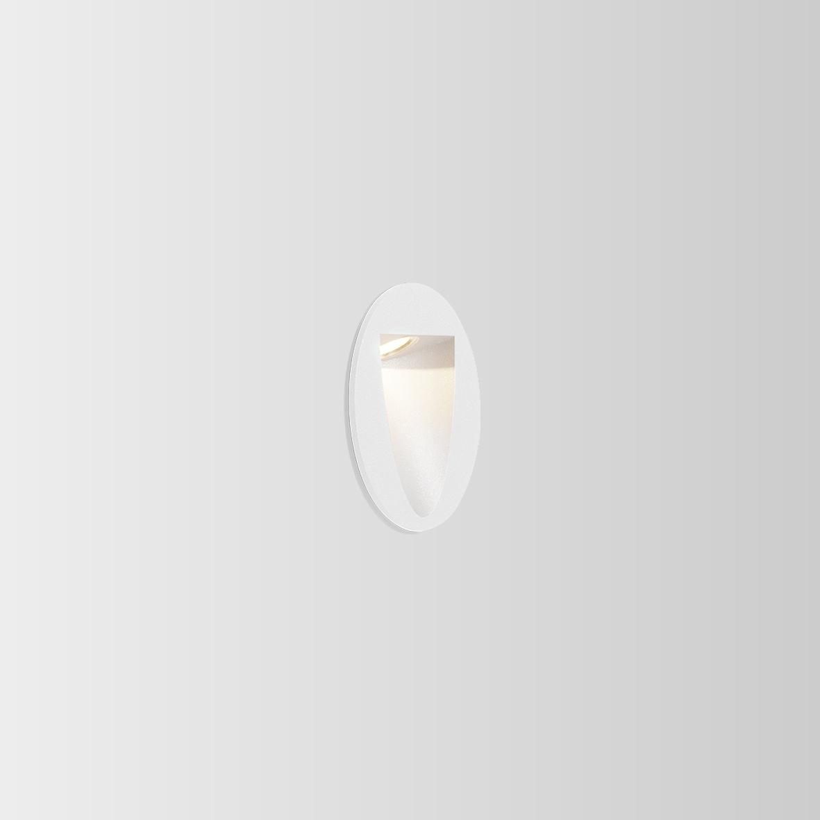 SMILE IN 1.0 LED 3000K 4/6W CRI>80 280/370lm 350/700mA IP65, välisvalgusti süvistatud seina, valge
