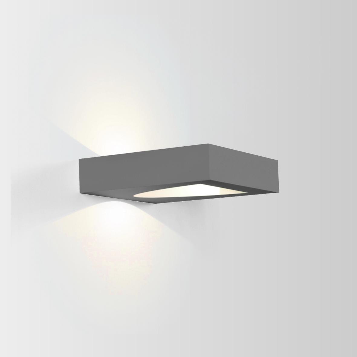 SMILE 2.0 LED 3000K DIM 8W 480lm 80CRI 220-240VAC IP65, valge välisvalgusti seinale