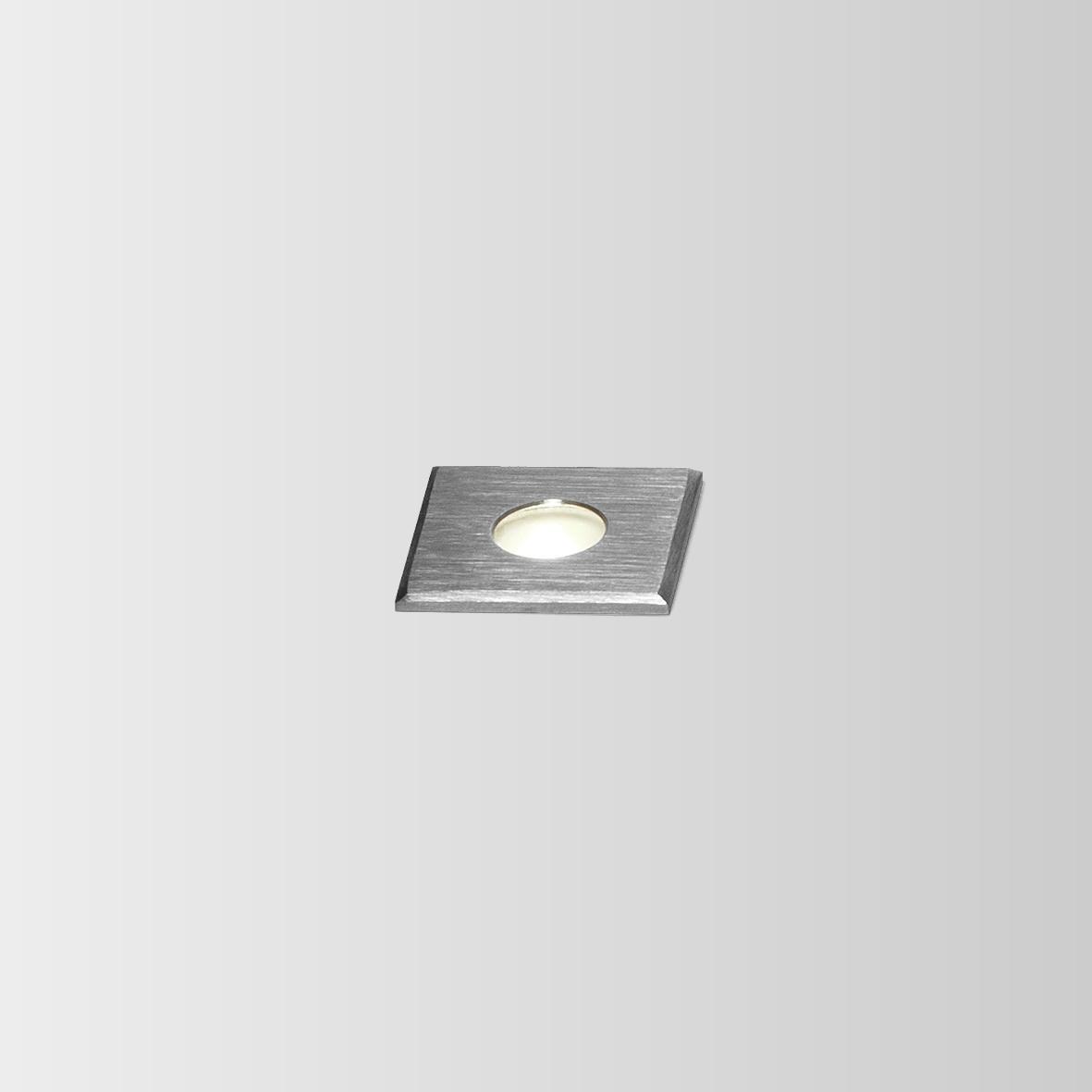 CARD 0.2 LED 3000K INOX 1W 80CRI 350mA, välisvalgusti süvistatud pinnasesse