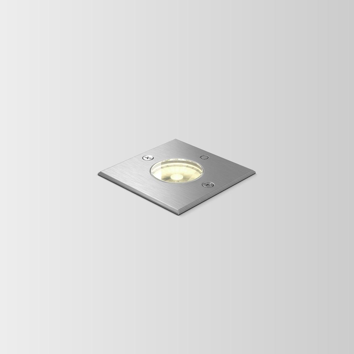 CHART 0.9 LED 3000K INOX 6W 80CRI 220-240VAC phase-cut dim., välisvalgusti süvistatud pinnasesse
