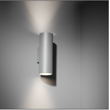 Modular+Nude wall IP55 2x LED 2700K med must