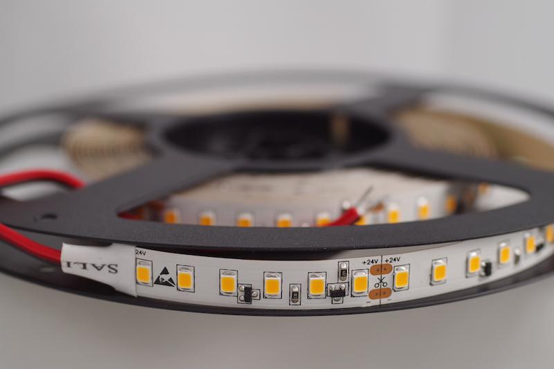 LED riba 120LED/m, 19,2W(1900lm)/m, L=5m, 10mm, soevalge 3000K, IP20, CC(püsivooluga), 24VDC, CRI90