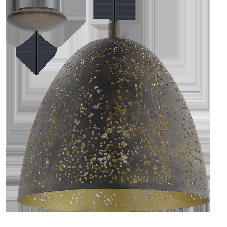 Rippvalgusti Safi max. 60W E27 pruun-kuldne d=275mm, h=1100mm