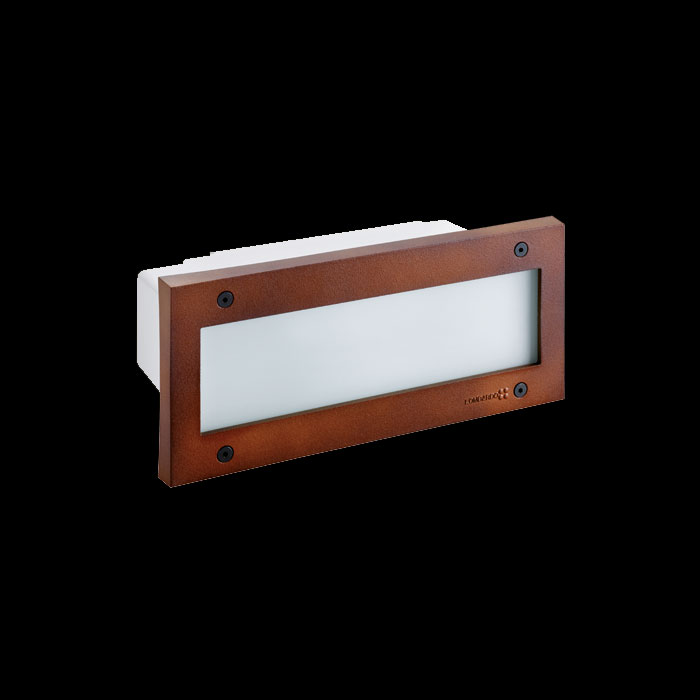 Stile 260 simmetrica, LED 6W 800lm 3000K, IP54, corten