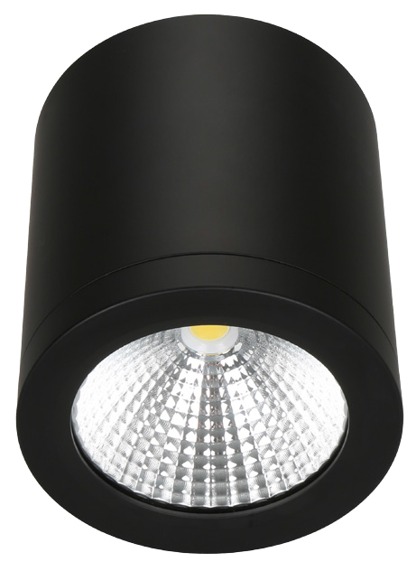Pinnapealne allvalgusti LED 10W 700 lm 3000K 60° CRI80, must, dimmitav faasilõikega, IP54 ¤90mm h100mm