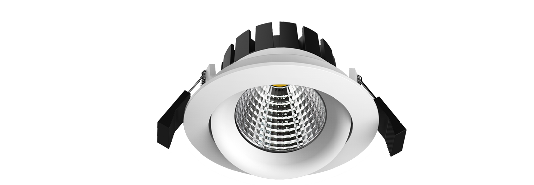 Allvalgusti suunatav LED 10W 650 lm 3000K 36° CRI80, valge, liiteseadmega, dimmitav faasilõikega, IP54 ¤95mm (ava 82-88mm) h-55mm