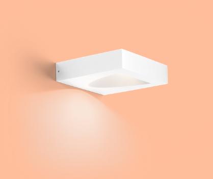 SMILE 1.0 LED 8W 3000K 480lm DIM 220-240VAC IP65, valge välivalgusti seinale