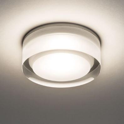 Vancouver Round 90 LED 6W 681lm 3000K IP44 süvisvalgusti, hämardatav, akrüül, liiteseadmeta