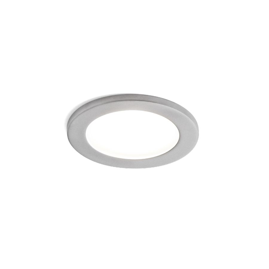 Luna Round IP44 1.0 LED 7/10W 1800-2850K warm dim 95CRI 350-500mA, Matt Kroom