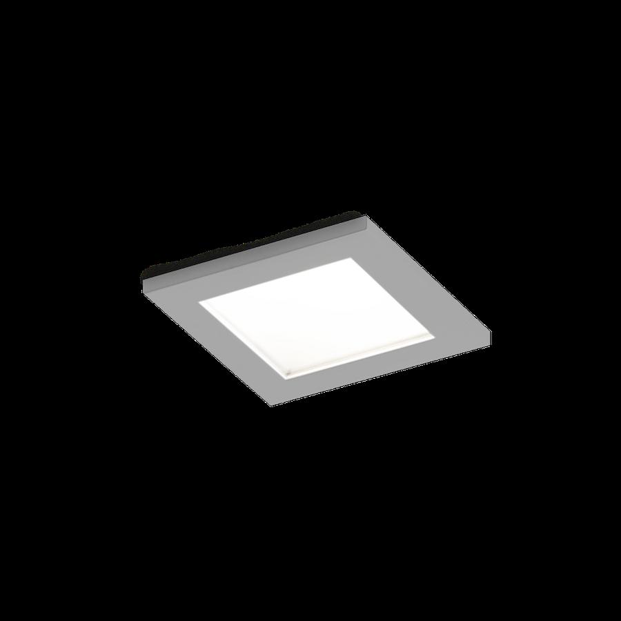 Luna Square IP44 1.0 LED 7/10W 1800-2850K warm dim 95CRI 350-500mA, Matt kroom