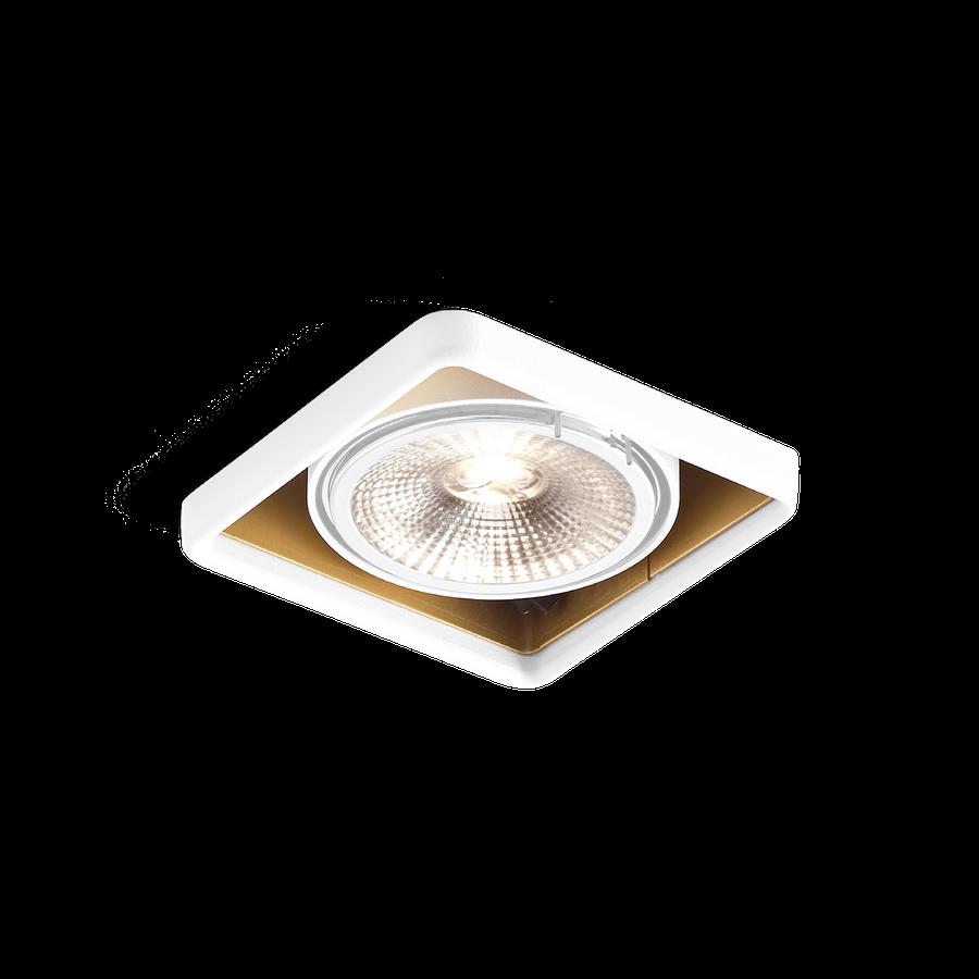 Wever & Ducré+Oboq Square 1.0 QR111 max.75W G53 12V, Valge/Kuldne