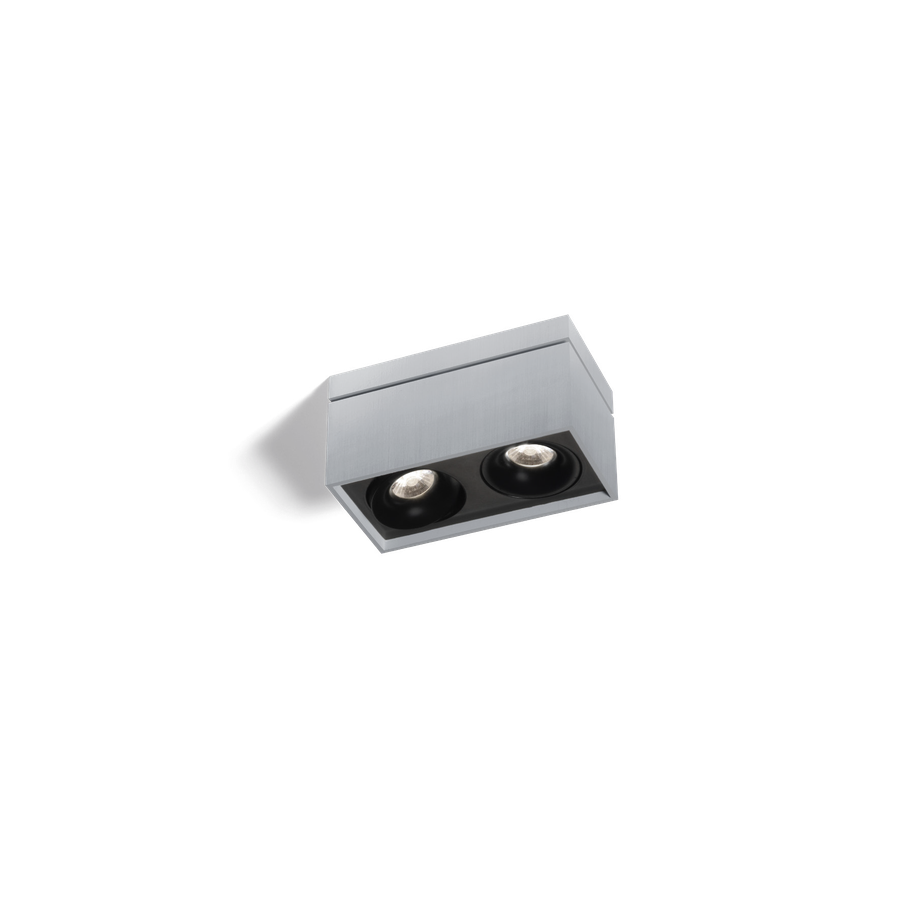 Sirro 2.0 PAR16 2x max.35W GU10 100-240V, Alumiiniumvärv/Must